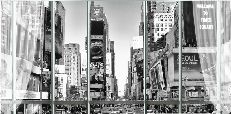 Us 2119 47 Offcustom Stereoscopic Wallpaper For Walls 3d Black White Wallpaper City New York Street View 3d Wall Murals For Bedroom Wallpapers In