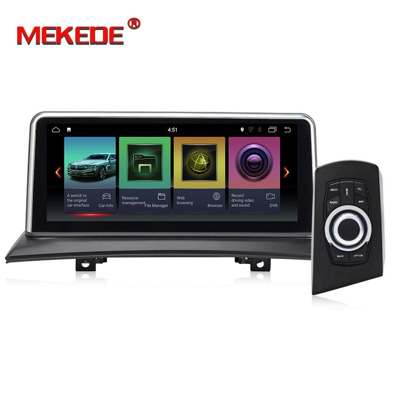 MEKEDE IPS écran Android 8.1 2 + 32G voiture GPS Navi écran pour BMW X3 E83 2003-2009 enregistreur multimédia BT WIFI Google 2 + 32G RAM - 2
