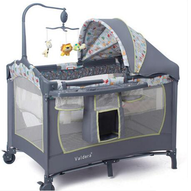 Multifunctional Foldable Cribs European Portable Game Bed