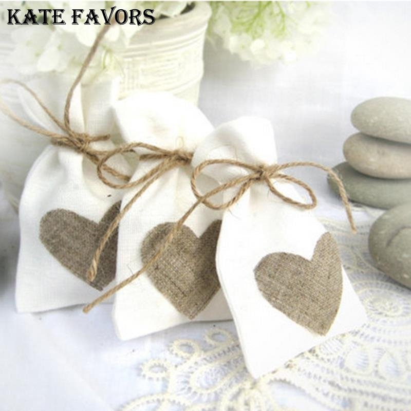 Image 3 - 10x14cm White Linen Drawstring Bag Vintage Natural Burlap Gift Candy Bags Wedding Candy Bags Jute Gift Jewelry Pouchbag fbag pouchbag jewelry -