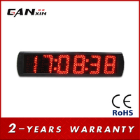 [Ganxin] Popular 5 inch large race timer high brightness countdown timer display led digital clock