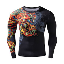 Men Sport Shirt For Gym 3D Dragon Gym Clothing S-2XL Fitness Men Crossfit Plus Size Jerseys Bodybuilding Male Compression Shirt 1 mcgrady s sport jerseys