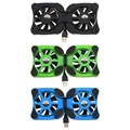 "1 pcs Porta USB Mini Octopus laptop cooler Fãs Duplas Fã Notebook Cooler Cooling Pad Para 7 ""-15"" Laptop Atacado"