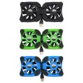 "1pcs laptop cooler Double Fans USB Port Mini Octopus Notebook Fan Cooler Cooling Pad For 7""-15"" Laptop Wholesale"