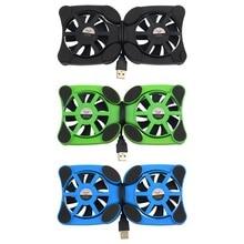 1 шт. laptop cooler Вентиляторы Двойной Порт USB Мини Осьминог Ноутбука Вентилятор Cooler Pad Охлаждения Для 7 «-15» ноутбук Оптовая