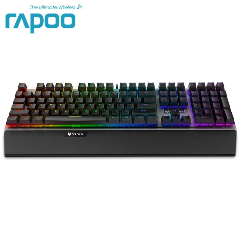 Rapoo V720 RGB Подсветка Механическая игровая клавиатура 108 ключей N-Key Rollover механический переключатель компьютер Gaming Keyboard