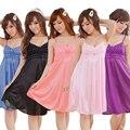 Women Sexy Fashion Nighties Sleeveless Nightgown Solid Night Dress V-neck Sleeping Dress Plus Size Sleepwear Nightwear PA-5749