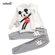 Boys Clothing Sets Active Style Long Sleeve T shirt Cartoon Pattern Baby Clothes Casual Sports Suit Children Clothing Sets Boys стоимость