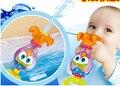 Banho de água do chuveiro do bebê polvo do bebê enigma ambiental tocando dentes play brinquedos da água