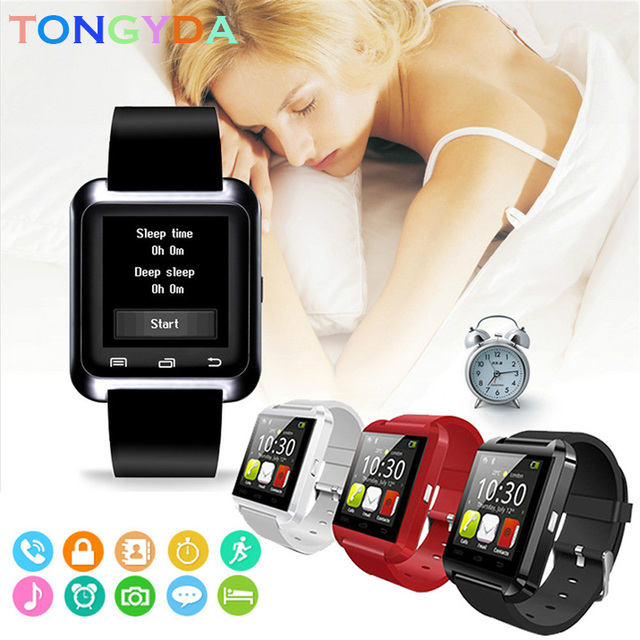Smartwatch With Camera Smart Watch Digital Men Watch For Apple iPhone Samsung Android Mobile Phone Bluetooth 2G GSM SIM TF Card 2
