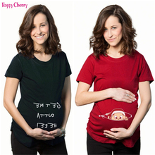 Marternity Clothing for Pregnant Women Maternity T-Shirt Casual Pregnancy Clothes Funny Shirt Women Cotton Maternity Mom Wear