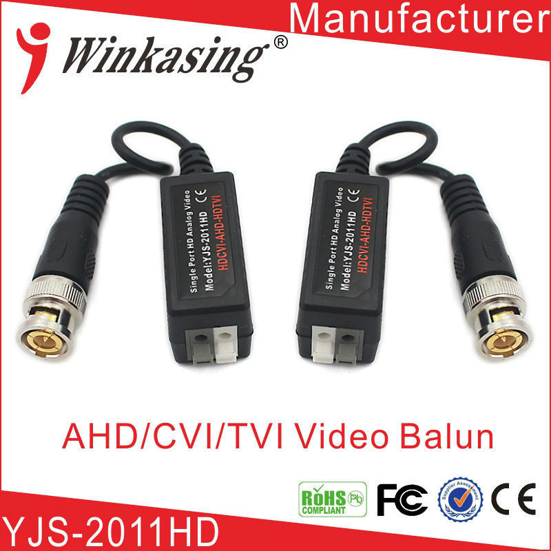 2011HD high quality UTP AHD Twisted BNC CCTV  video balun transmitter 1pairs high quality cctv via twisted pairs transmitter hd cvi tvi ahd passive video balun male cable bnc to utp cat5e 6
