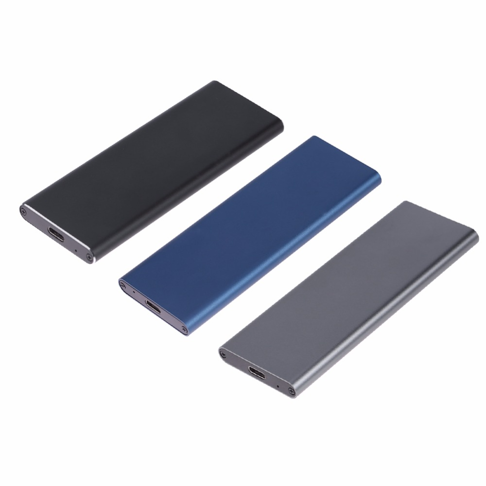 1pcs M.2 NGFF SATA SSD 10Gbps To USB 3.1 Type-C Converter Adapter Enclosure Case For M2 Hard Drive PC