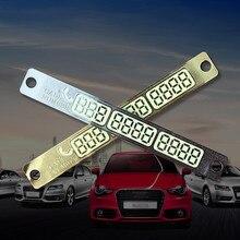 SUKO Car accessory Auto Luminous Phone Number Parking Card Stickers for Mazda 3 6 CX-5 Skoda Octavia 2 A7 A5 Rapid Fabia Superb