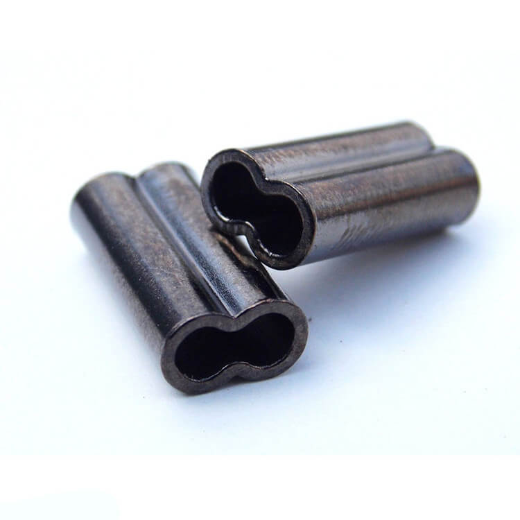 50Pcs 8mm//10mm Double Barrel Crimping Sleeves Copper Tube Connector 0.8-2.0mm