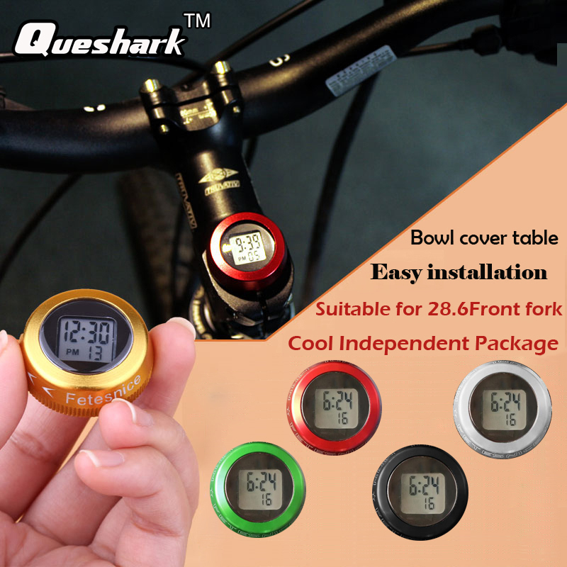 Bike Bicycle Headset Stem Watch Computer Vehicle Clock Cycling Head Parts Timepiece Top Cap Cover For MTB Road