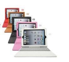 Nueva llegada elegante de la pu del soporte del cuero del teclado inalámbrico bluetooth para ipad air 1 para ipad 5