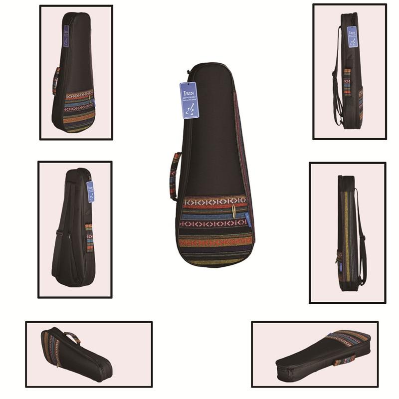 21 Ukulele Instrument Bags Ukelele Bag With Double Shoulder Strap Bag Canvas Guitarra Bags Cases National Wind For Mini Guitar
