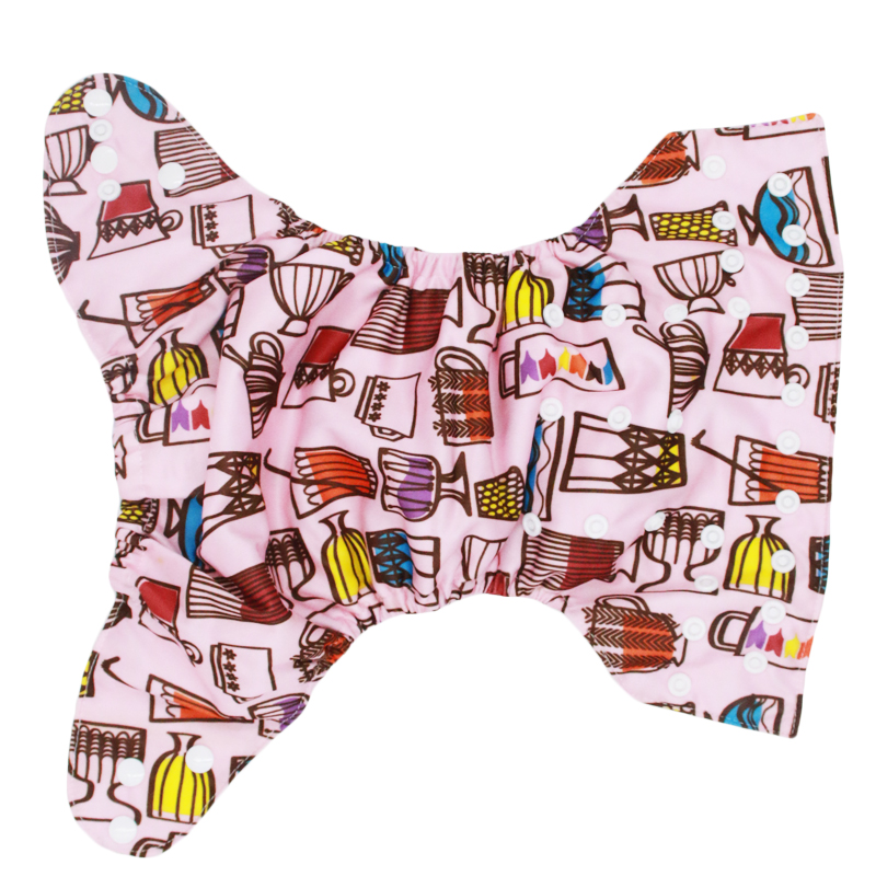 Printed Cloth Diaper With Suede Cloth Inner One Size Baby Reusable Nappy Insert Boys and Girls Cloth Diaper