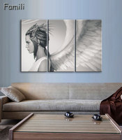 3pcs HD Printed Anime Angel Girl Painting Canvas Print Room Decor Print Poster Picture Canvas