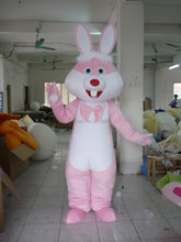 New adult size Mascot Costume Rabbit Pink Fancy costume Character