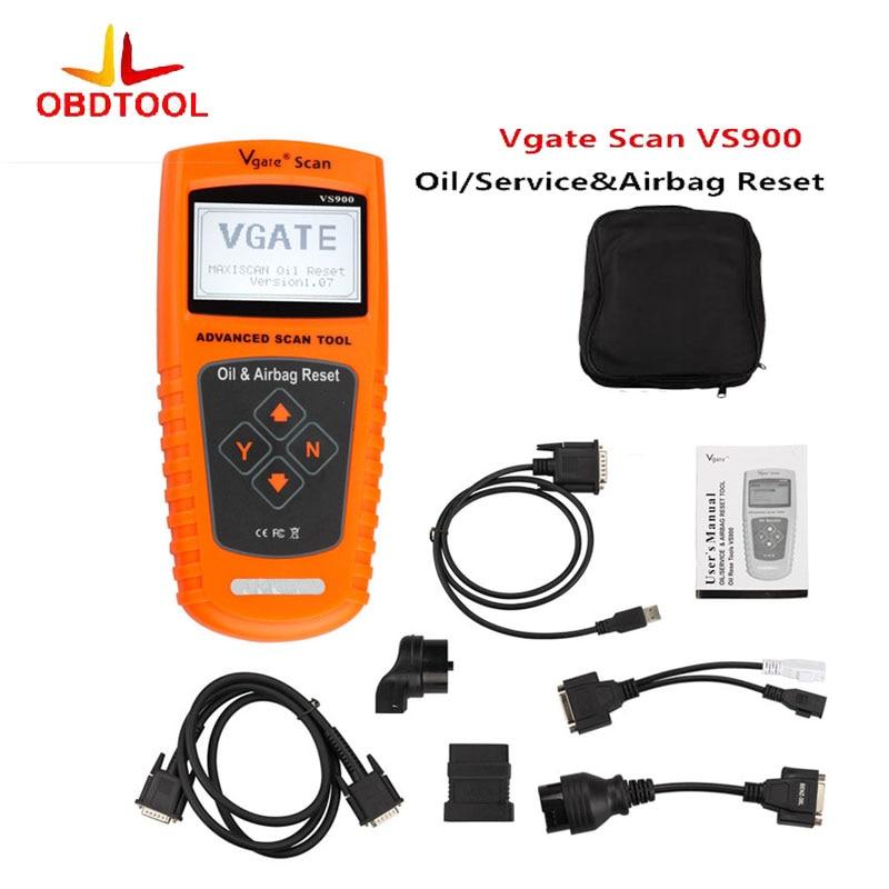 кабель obd2 нефть / сервис и Подушка безопасности сброса инструмент obdii vs900 диагностический инструмент OBD против 900 сканирования инструмент VS900