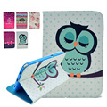 For Samsung Galaxy Tab 2 10.1 Case New Colored Drawing Picture Pu Leather Flip Skin Cover for Samsung Tab2 10.1 P5100 Stand Bags