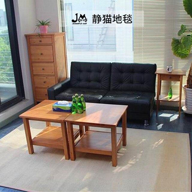 Tapis de sol en sisal de style tatami japonais | Tissu en sisal naturel brésilien, pour la salle de séjour, canapé et table basse