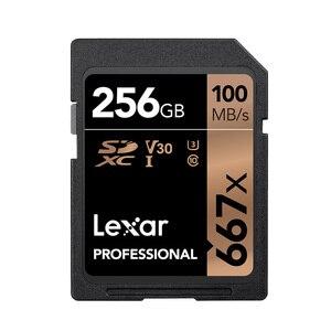 Image 3 - Mới Lexar SD Flash Thẻ 256GB SDXC U3 UHS I Thẻ 100 MB/giây Class 10 667X tarjeta sd Cho 3D 4K Video MÁY ẢNH SLR Kỹ Thuật Số/HD Camera
