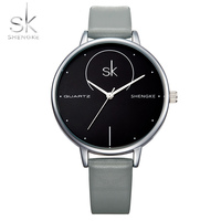 Shengke Brand Luxury Watch Women Leather Wristwatch Top Brand Quartz Watch Fashion Watch Ultra Thin Hot