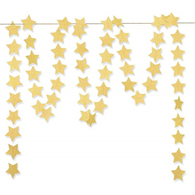Gold Glittery Star Garland Decoration 3 Meters Elegant Shiny and Sparkling Party Background Decor For Weddings Birthday Parties