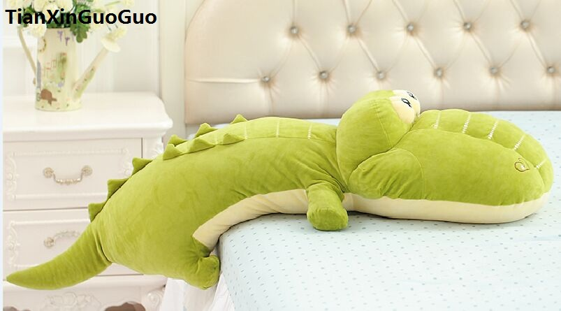 stuffed plush toy large 120cm cartoon crocodile plush toy down cotton green crocodile very soft doll sleeping pillow gift s0863 1pc 50 85cm 3 colors cute lying down french bulldog plush stuffed toy doll model soft cotton dog pillows baby kids birthday gift