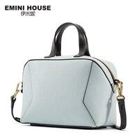 EMINI HOUSE Geometric Style Goat Pattern Genuine Leather Women Messenger Bag Luxury Handbags Women Bags Designer