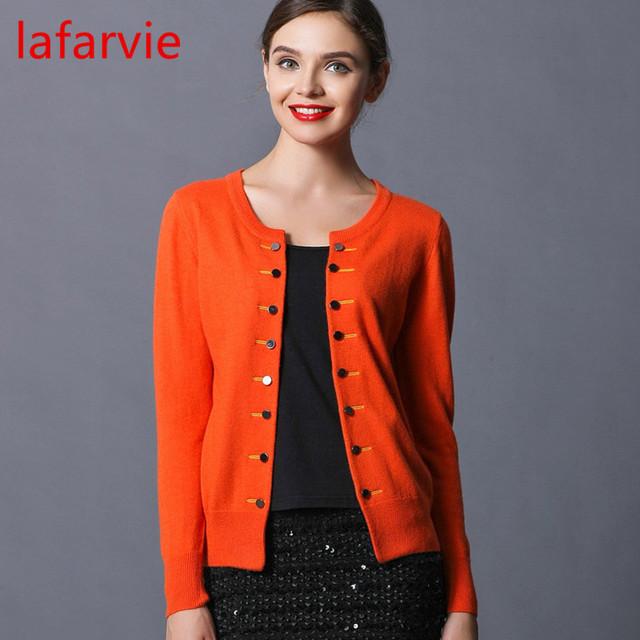 Suéter de Cashmere Moda Feminina Exteriores Double Breasted Cardigans Camisola de Malha de Cashmere Mulheres Top Venda Com 7 Cores
