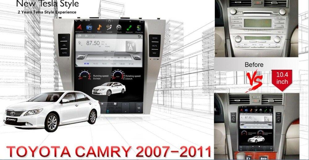 2 Din autoradio Android 7,1 Tesla Style GPS Navigation lecteur DVD pour Toyota Camry 2007 2008 2009 2010 2011 DAB/WIFI/OBD/Carplay