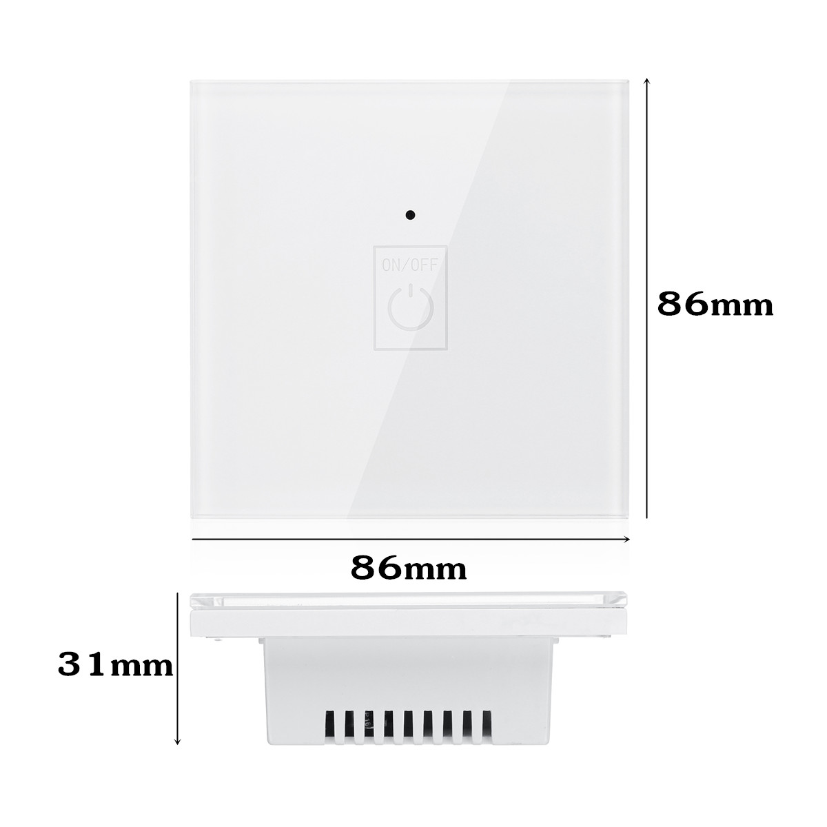 ABS + Toughened Glass Panel AC100V-230V 50/60Hz 1/2/3Gang WIFI Smart Wall Light Remote Panel Switch For Amazon-Echo Google Home