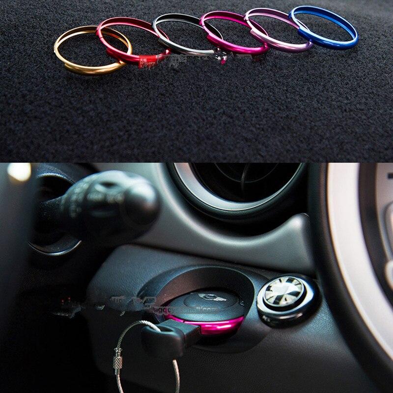Paquete De 2 Cadenas De Aluminio Para Llavero Para BMW Mini Cooper JCW R55 R56 R57 R58 R59 R60 plata Y Rojo
