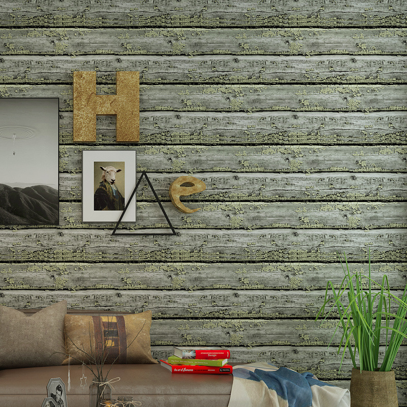 wall paper home decor vintage wood grain wallpaper bar restaurant clothing store boardwalk stripe wallpaper behang Beibehang kitbwk6500bwkfscbgrn value kit boardwalk scrub brush bwkfscbgrn and boardwalk 6500 two ply facial tissue bwk6500