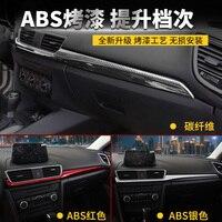 for Mazda 3 Axela 2014 2015 2016 2017 2018 Central control trim decorative sequined interior carbon fiber panel modification