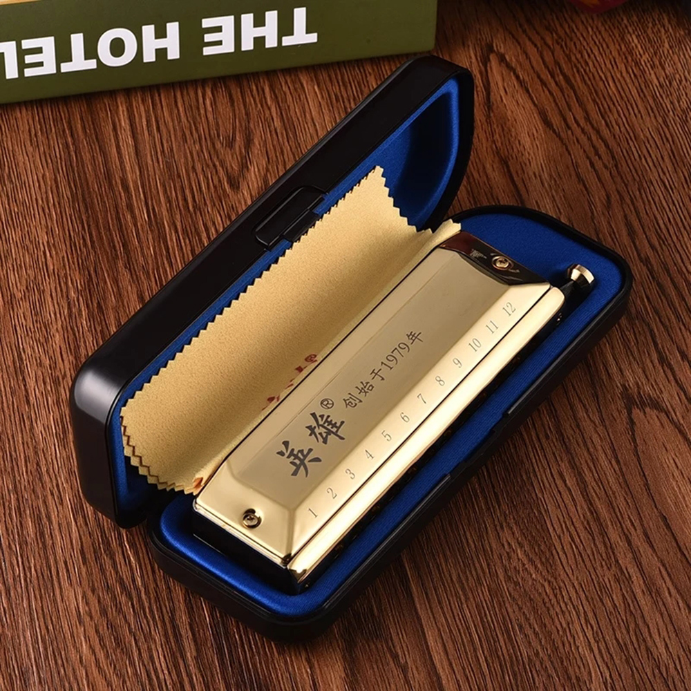 Guo Guang Hero Chromatic Harmonica 12 And 16 Holes Mouth Organ Instrumentos Key Of C Phosphor Bronze Reeds Musical Instruments-in Harmonica from Sports & Entertainment    3