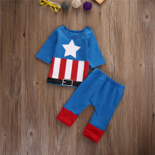 New Iron man Pajamas Kids Sleepwear Baby Boys Nightwear Pyjamas sets Chidlren Summer Clothes Set