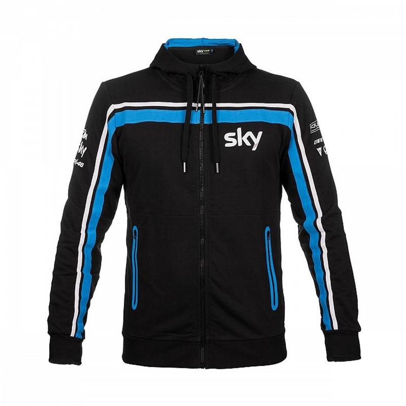 2018 Brand New Motocycle Men's Valen Rossi VR46 Sweatshirts Hoodies MotoGP Moto Valentino Rossi VR46 Random Winter Sports Jacke 2017 valentino rossi vr46 for yamaha racing blue motogp mens felpa zip up sweater
