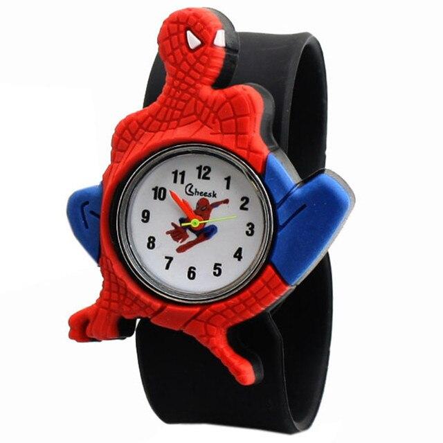 wholesale 2018 new children's Clock student children boy spider man watches men