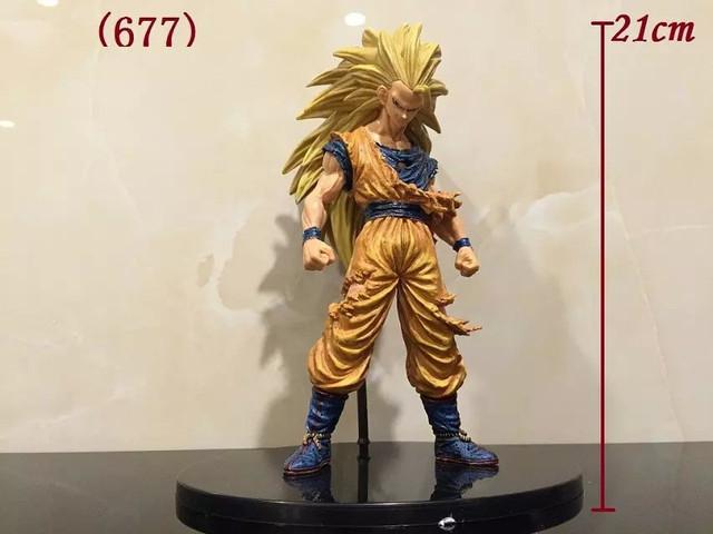 Anime Dragon ball Super Saiyan Tres Batalla Dañado Edición Kakarotto Goku PVC figura de acción de Colección Modelo juguetes