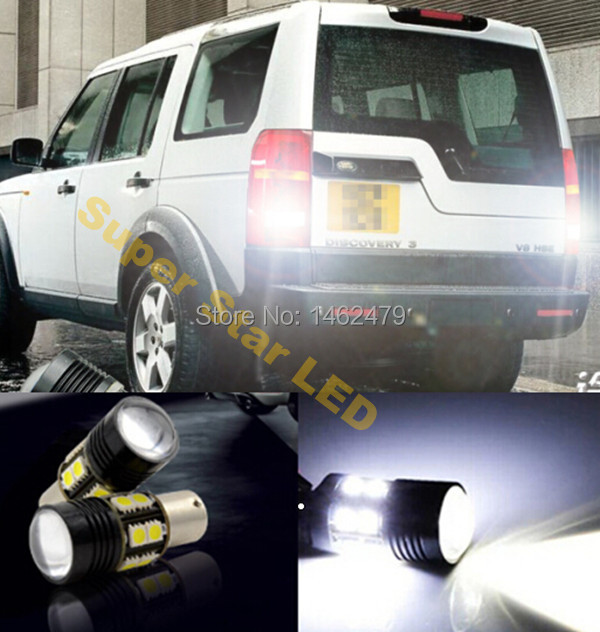 2 x 1156  P21W High Power For Cree Chips LED Rear Reversing Tail Light Bulb For  Land Rover Discovery 3  Range Rover  Freelander руководящий насос range rover land rover 4 0 4 6 1999 2002 p38 oem qvb000050
