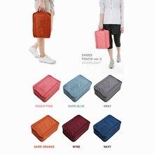 Multi-function Handle Storage Shoe Box Oxford Waterproof Shoes Organizer Folding Case Hanging Bags Traveling Mesh Packet