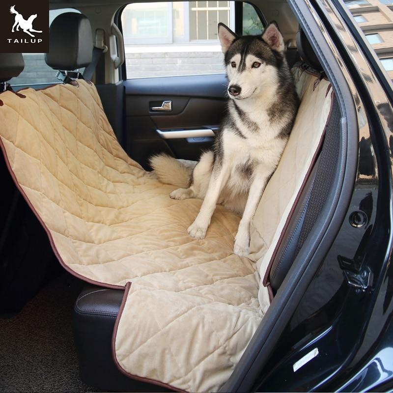 TAILUP Soft Pet Autositz Gesteppte Bezüge Wasserdichte Rückbank - Haustier-Produkte