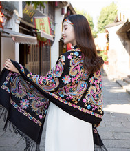 High Quality Cashmere Poncho 2017 Winter Womens Scarfs Fashionable  Embroidery Cashew Shawl Scarf Luxury Brand Female 65462d3678d