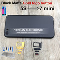 Горячий Новый! 5S Жилья для Iphone 5s Жилья 7 мини Матовый Черный Золотой с IMEI 7 стиль Жилья Угольно-Черный Серебро Золото синий Бесплатные инструменты,
