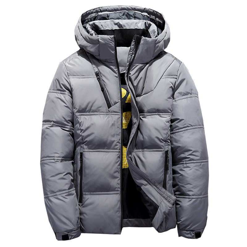 2018 Winter Hooded Duck Down Jackets Mens Warm Thick Quality Down Coats Male Winter Overcoat Down Parkas Man Puffer Jackets(China)